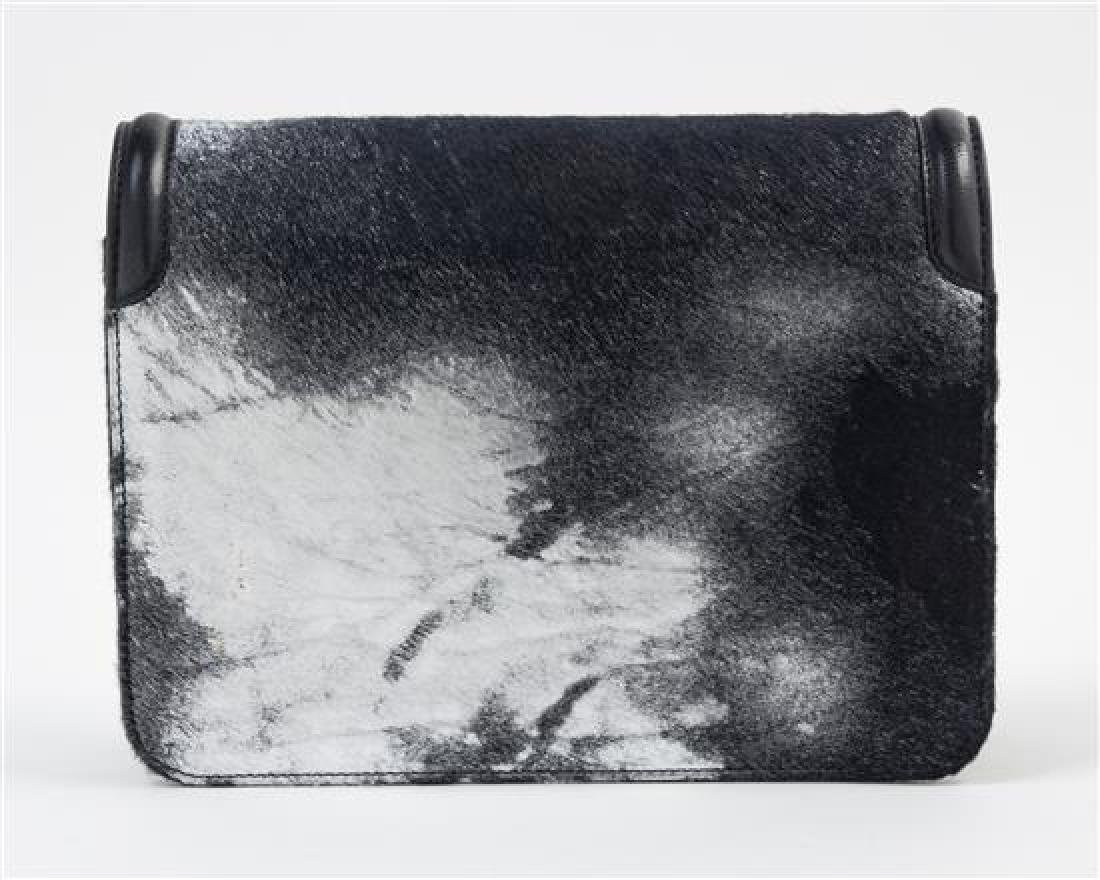 * A Judith Leiber Black and Silver Leather and Calf - 2
