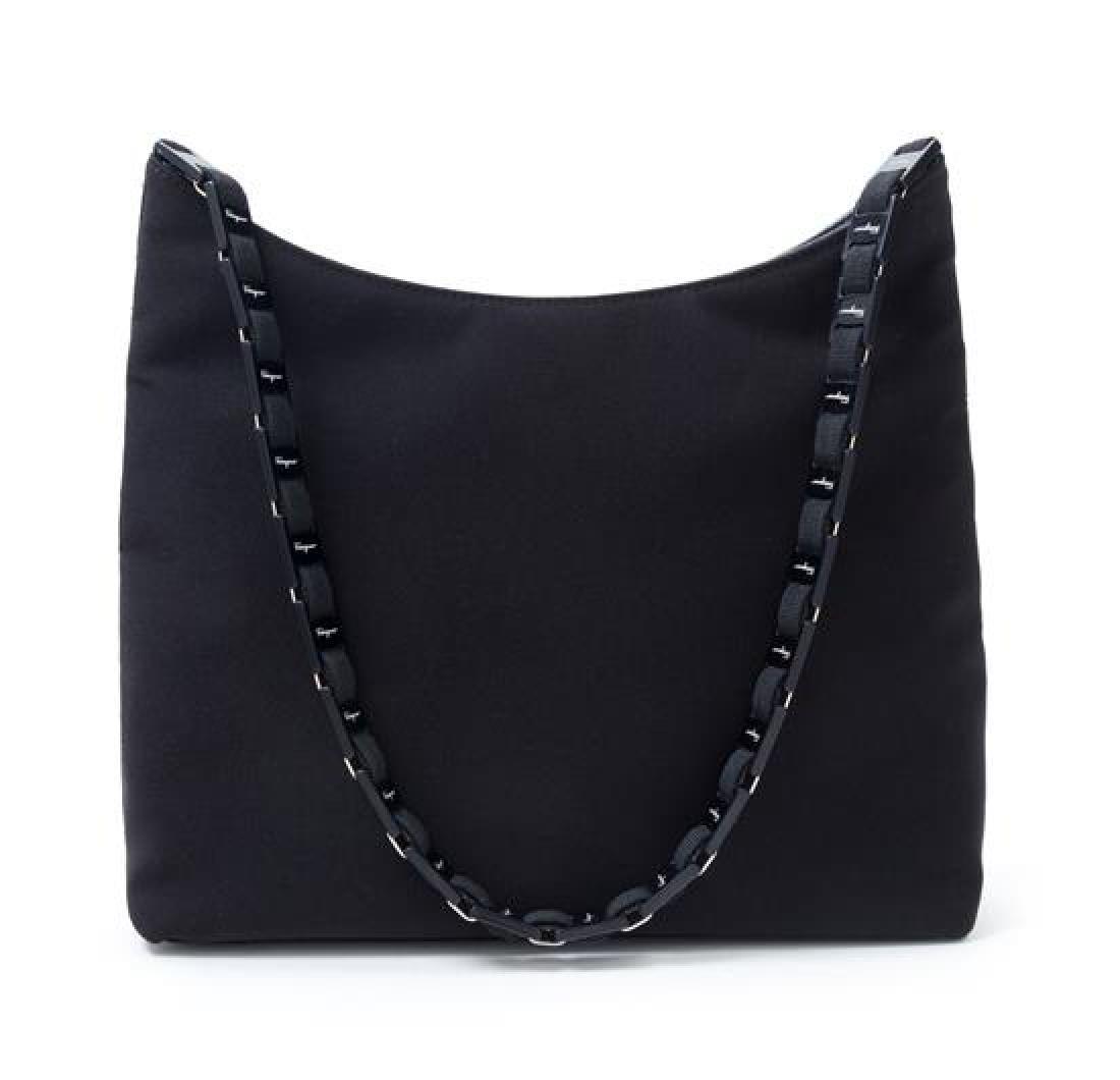 """A Salvatore Ferragamo Black Fabric Shoulder Bag, 12"""" x"""