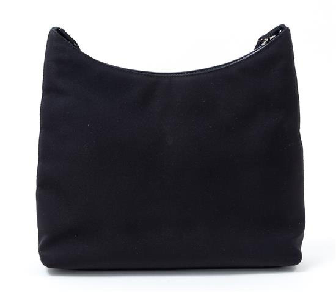"""A Salvatore Ferragamo Black Fabric Shoulder Bag, 12"""" x - 2"""