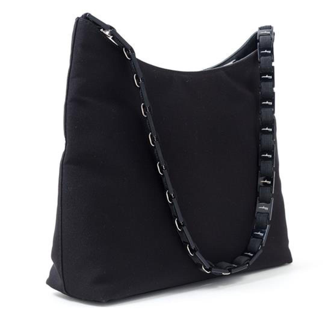 """A Salvatore Ferragamo Black Fabric Shoulder Bag, 12"""" x - 3"""