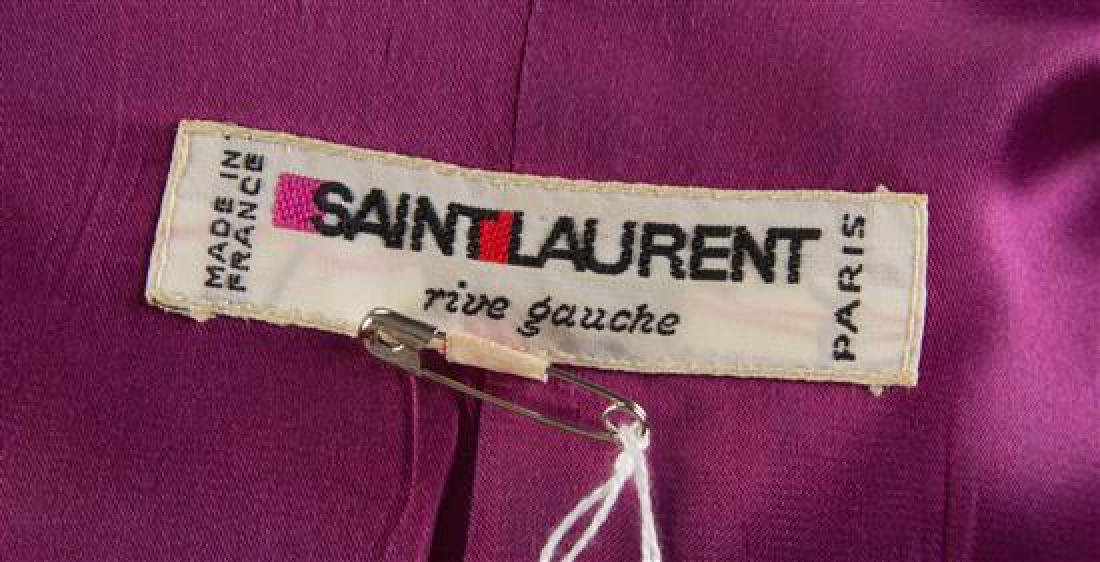 A Saint Laurent Purple Silk Jacket, Size 34. - 2