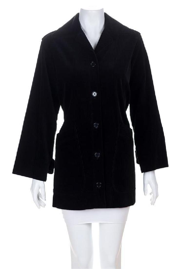 A Saint Laurent Black Corduroy Jacket, Size 40.