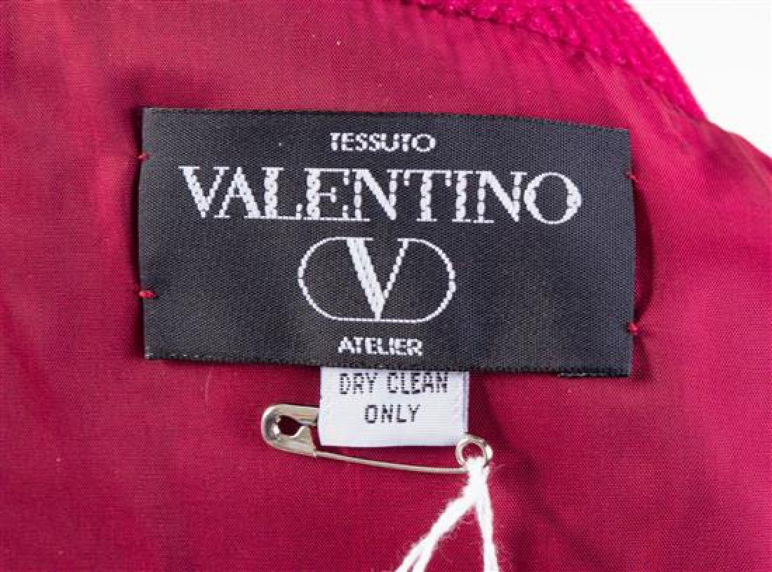 A Valentino Raspberry Wool Coat Dress, No size. - 2