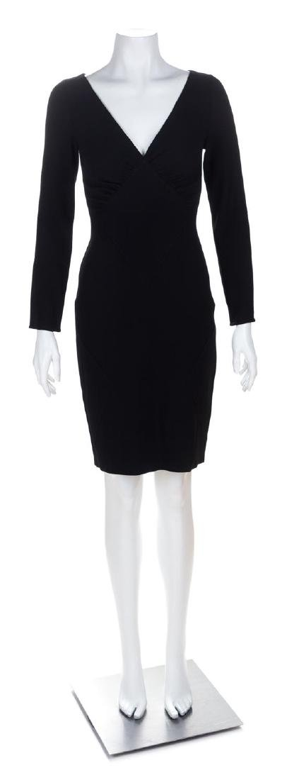 A Valentino Black Wool Dress, Size 2.