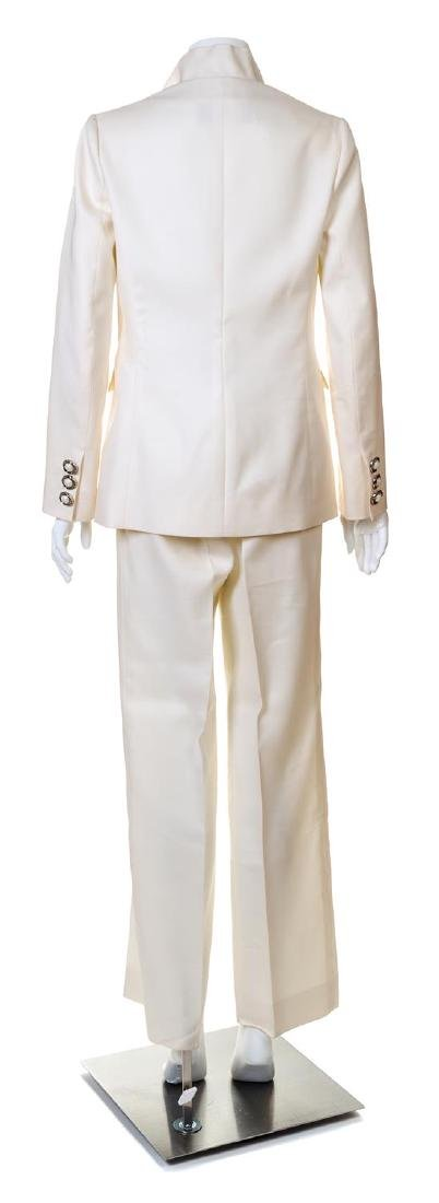 A Valentino Cream Pant Suit, Jacket size 6. - 2