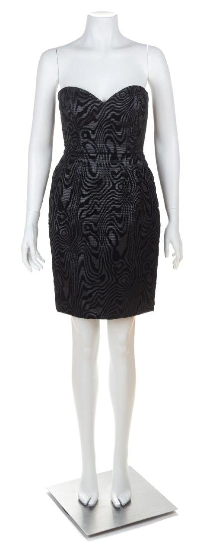 A Vicky Tiel Black Metallic Strapless Dress and Jacket - 2