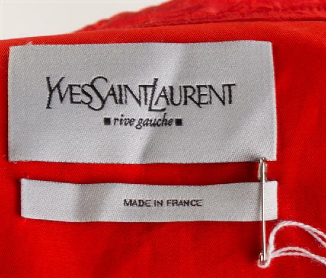 An Yves Saint Laurent Red Silk Blouse, Size 38. - 2