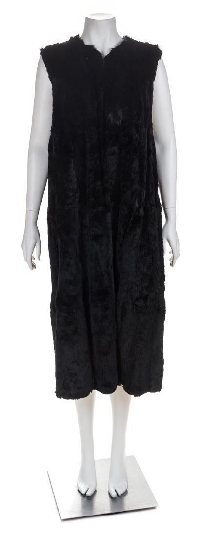 A Black Sheared Fur Vest, No size.