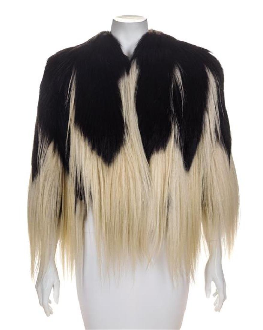 A Black and White Horse Hair Capelet, No size.