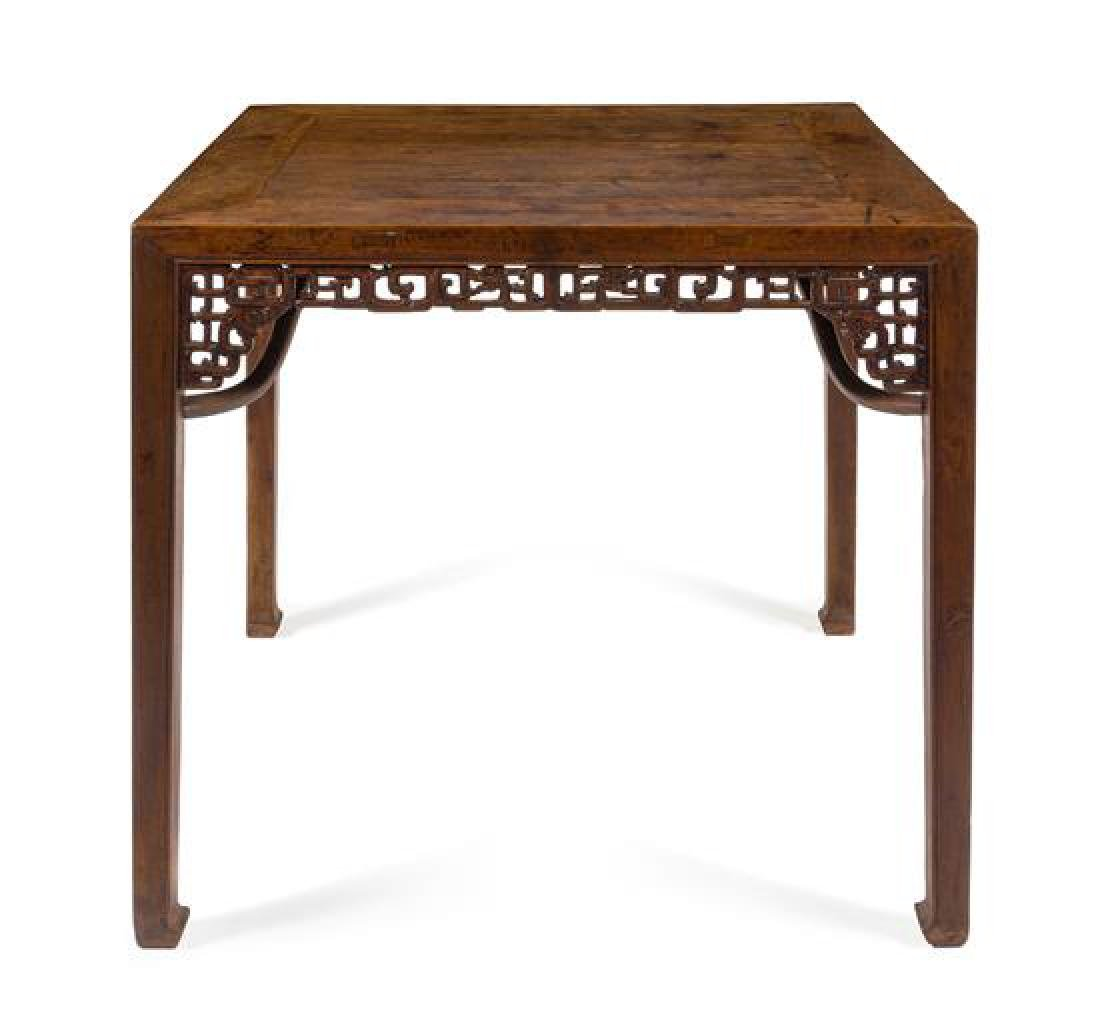 * A Chinese Hardwood Square Table, Fangzhuo Height 32