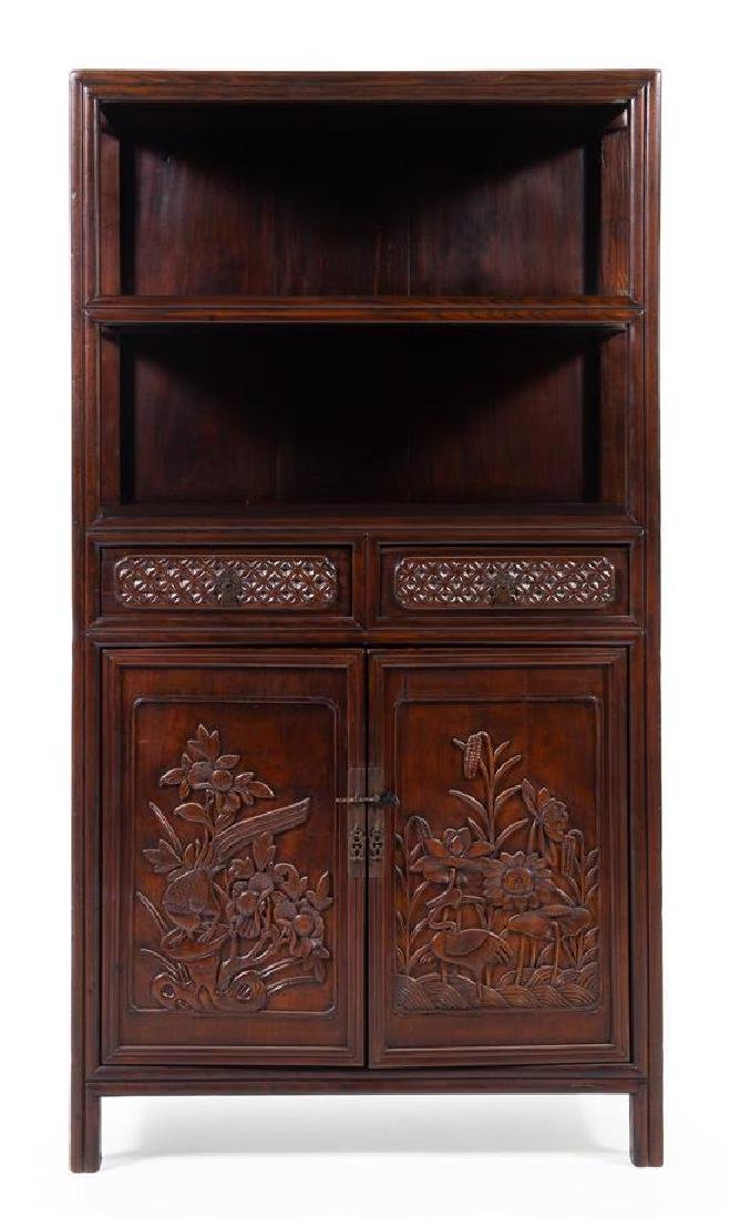 * A Chinese Hongmu Display Cabinet Lianggegui Height 71