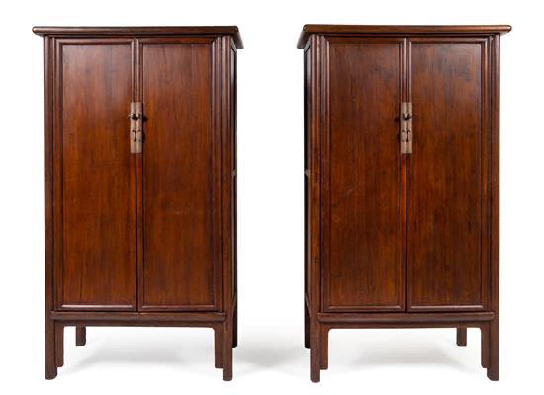 * A Large Pair of Elmwood Cabinets, Yuanjiaogui Each