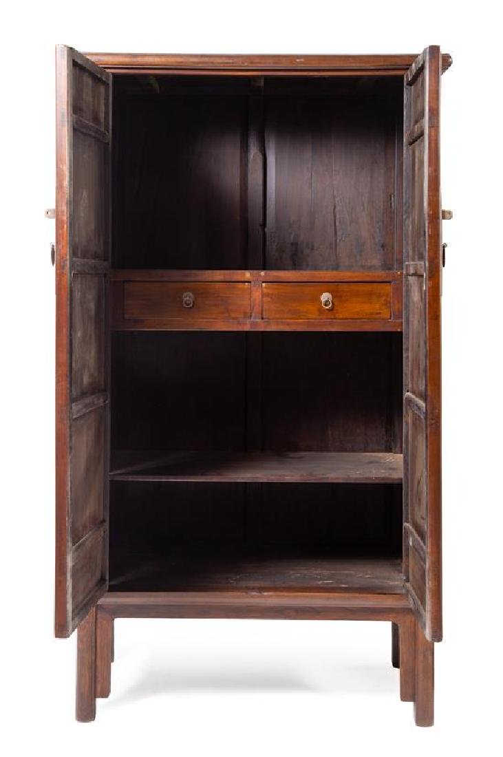 * A Large Pair of Elmwood Cabinets, Yuanjiaogui Each - 2
