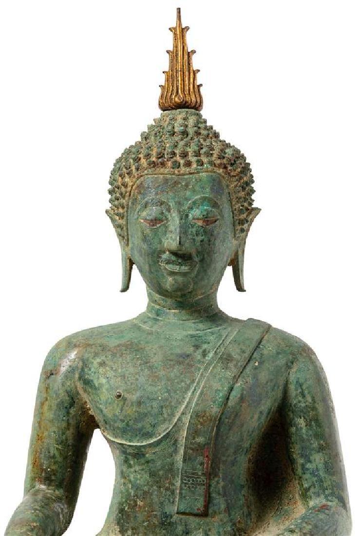 * A Thai Bronze Figure of Seated Buddha Height 24 - 3