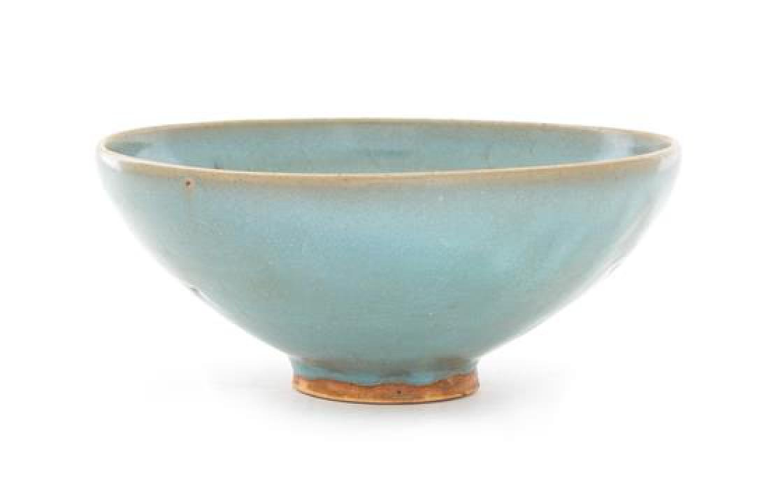 * A Junyao Pottery Bowl Diameter 7 1/2 inches.