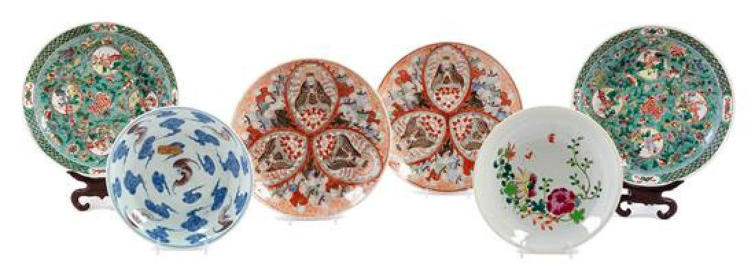 * Six Porcelain Plates Diameter of largest 9 1/4