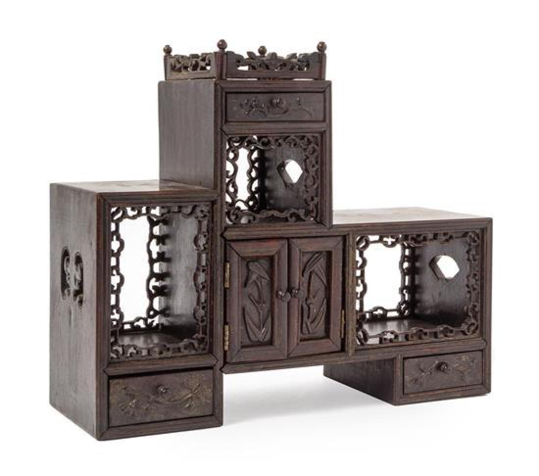 A Hongmu Displaying Cabinet, Duobaoge Height 12 x width