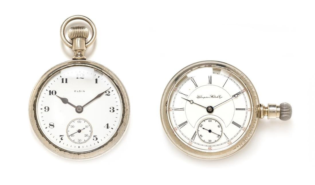 A Collection of Salesmen Sample Pocket Watches