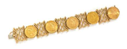 A 14 Karat Yellow Gold and US Five Dollar Liberty Head