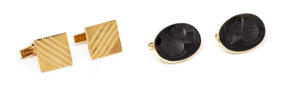 A Collection of 14 Karat Yellow Gold and Intaglio