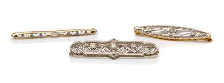 A Collection of Edwardian 14 Karat Gold and Gemstone