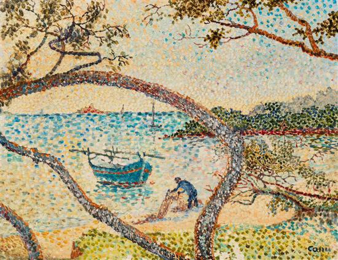 * Yvonne Canu, (French, 1921-2008), Untitled (Seaside