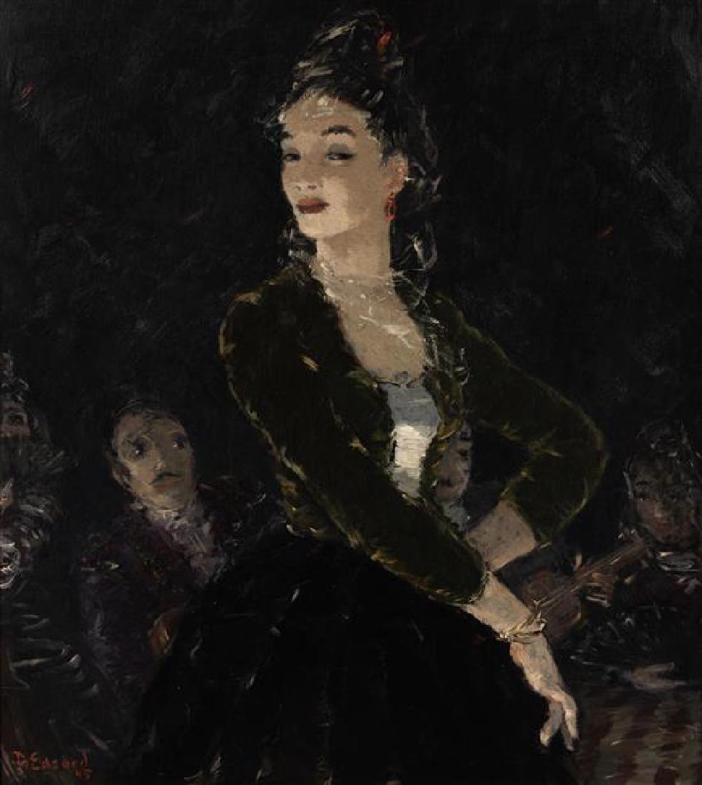 Dietz Edzard, (German, 1893-1963), Lady and a