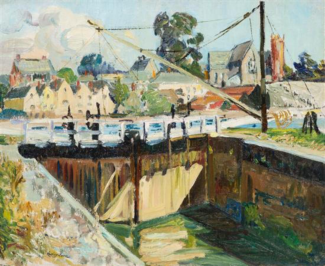 Richard Hayley Lever, (American, 1876-1958), Canal