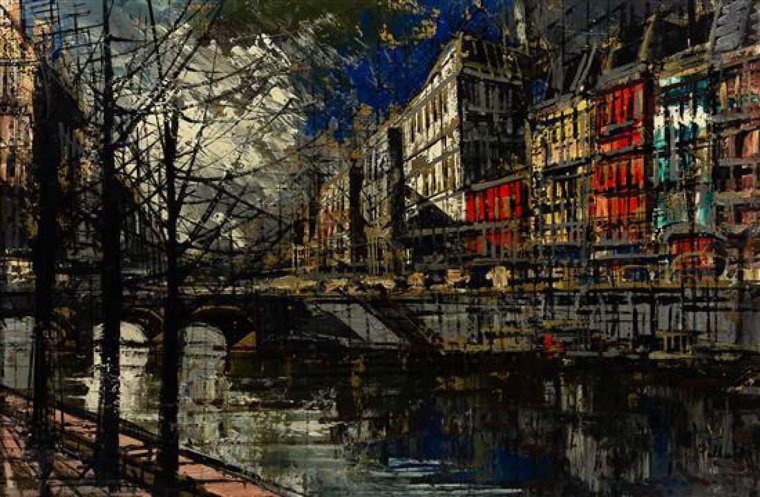John Pollard, (American, 20th century), Parisian Street