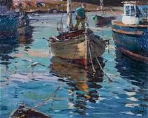 Antonio Cirino, (American, 1889-1983), Rockport Harbor