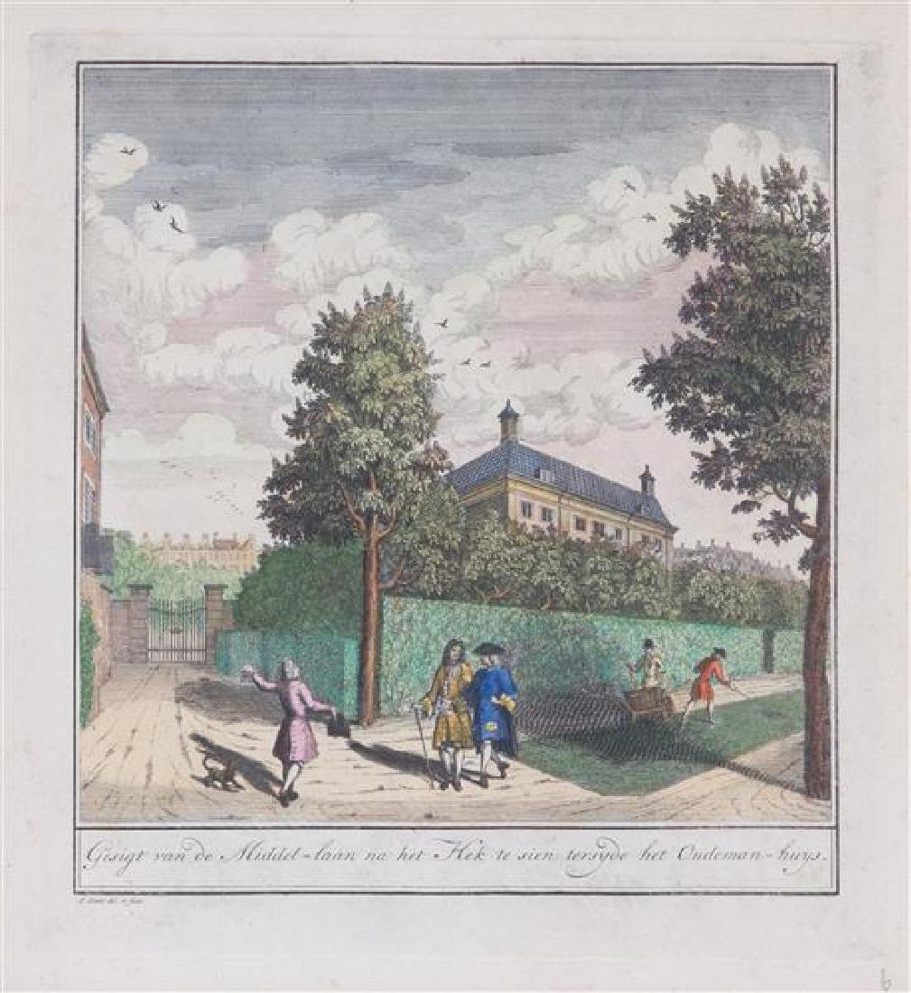 Six Dutch Handcolored Engravings after Jan Smit Plate