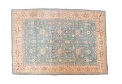 An IndoPersian Wool Rug 17 7  x 12 7