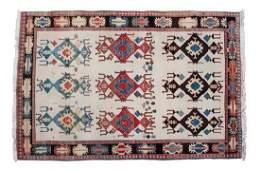 An Afshar Persian Tribal Wool Rug 6 x 8