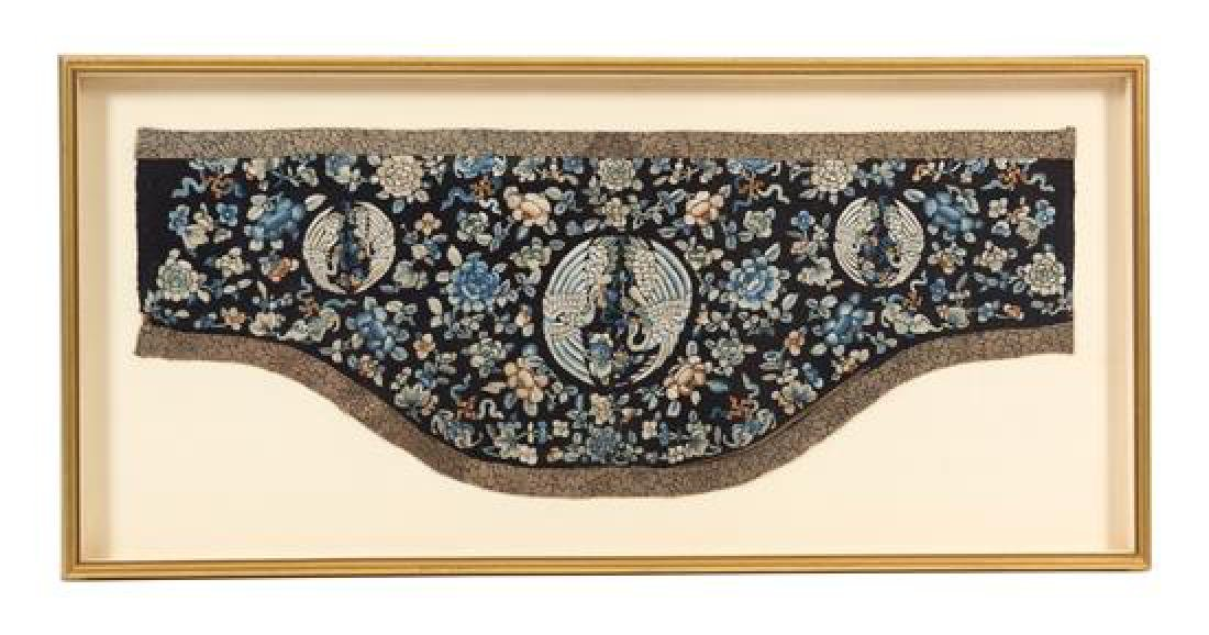 A Group of Four Gilt Framed Chinese Embroidered Panels