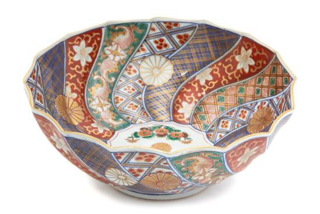 A Japanese Imari Porcelain Bowl Height 4 x diameter 9