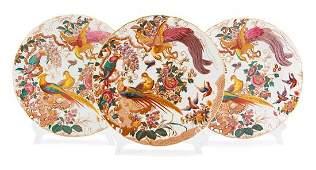 A Set of Twelve Royal Crown Derby Porcelain Dinner