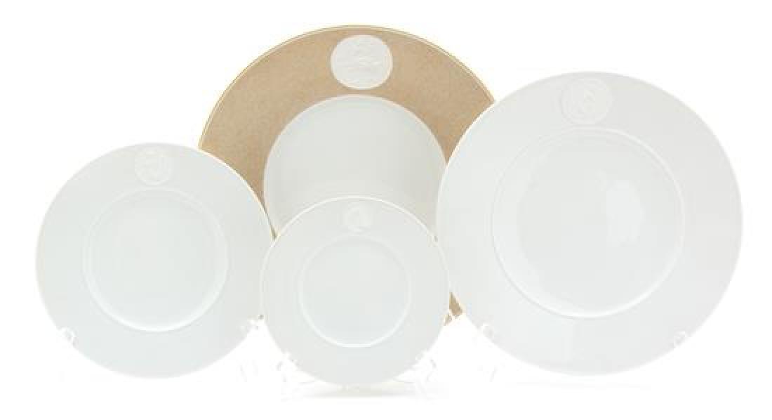 A K.P.M Porcelain Dinner Service for Twelve Diameter of