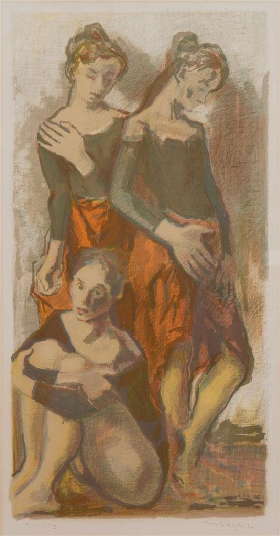 Moses Soyer, (American, 1899-1974), Three Dancers