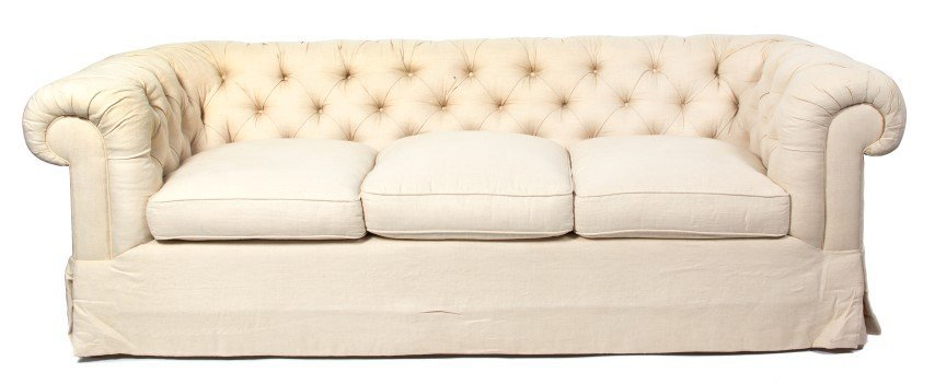 A Pair of Contemporary Upholstered Sofas