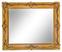 A Continental Giltwood Mirror Height 39 3/4 x width 32