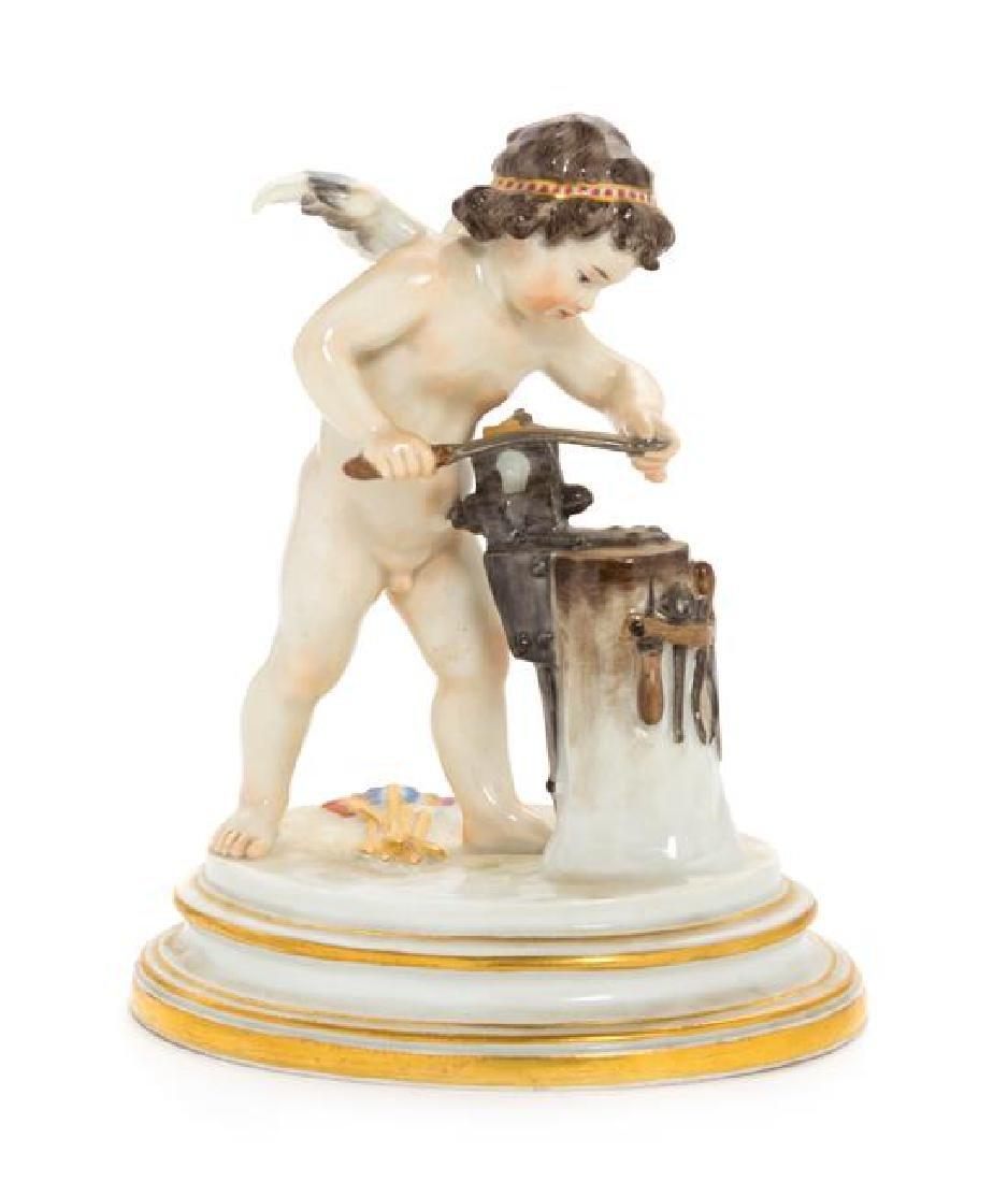 A Meissen Porcelain Figure Height 6 7/8 inches.