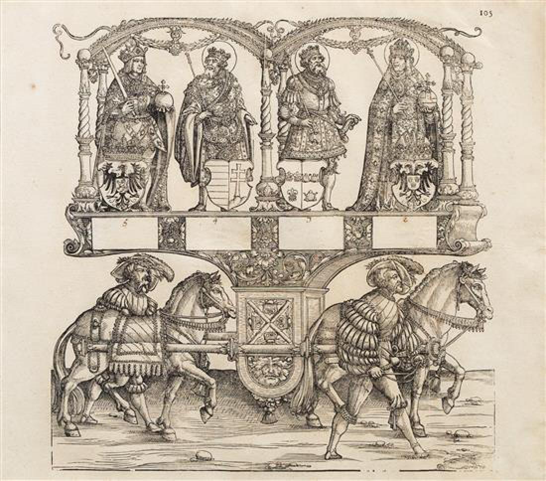 A Set of Six Woodblock Prints 16 x 18 inches (visible).