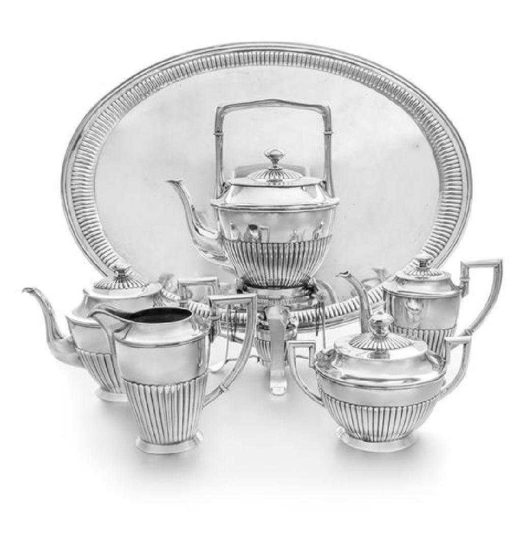 * An Austrian Silver Six-Piece Tea and Coffee Service,