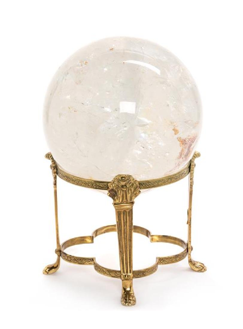 A Rock Crystal Sphere Diameter 8 inches.