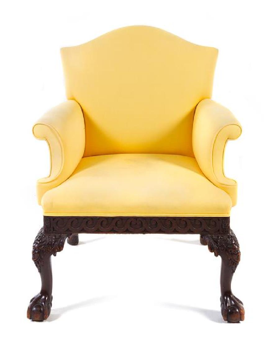 A George III Style Mahogany Armchair Height 37 5/8 x