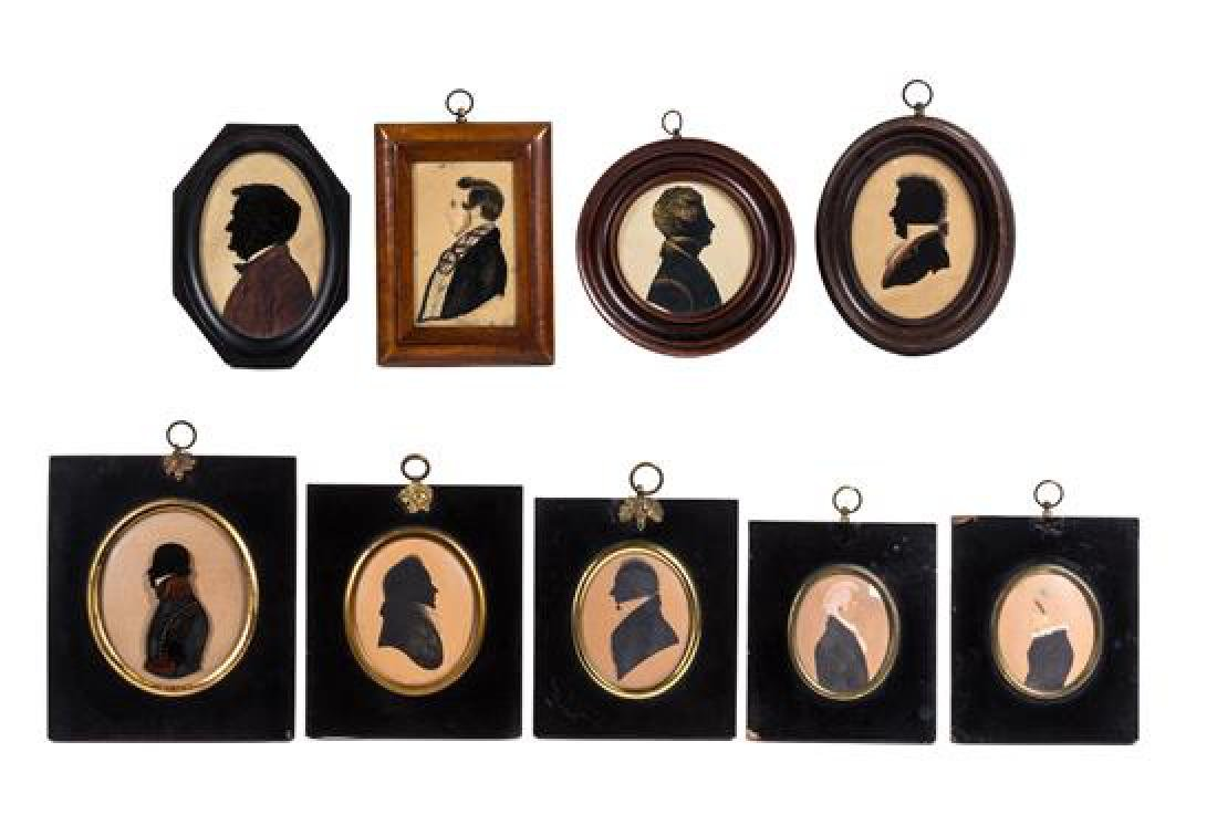 A Collection of Victorian Silhouettes Height of largest