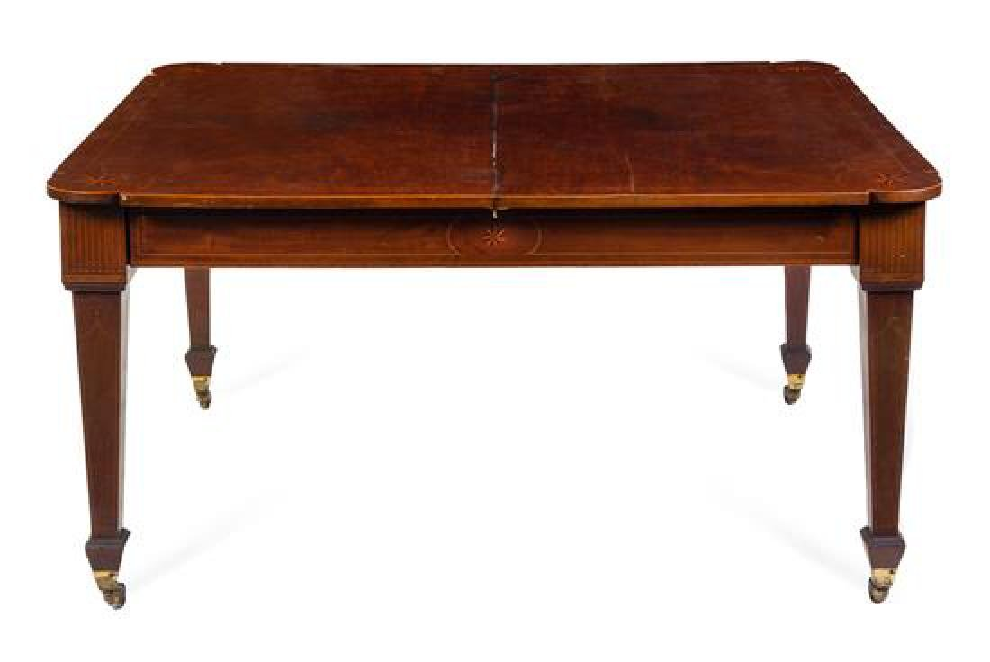 An English Mahogany Extension Table Height 30 x width