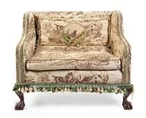 A George III Style Mahogany Child's Sofa Width 32 1/4
