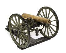 A Working Model of a Civil War Cannon Length 15 inches