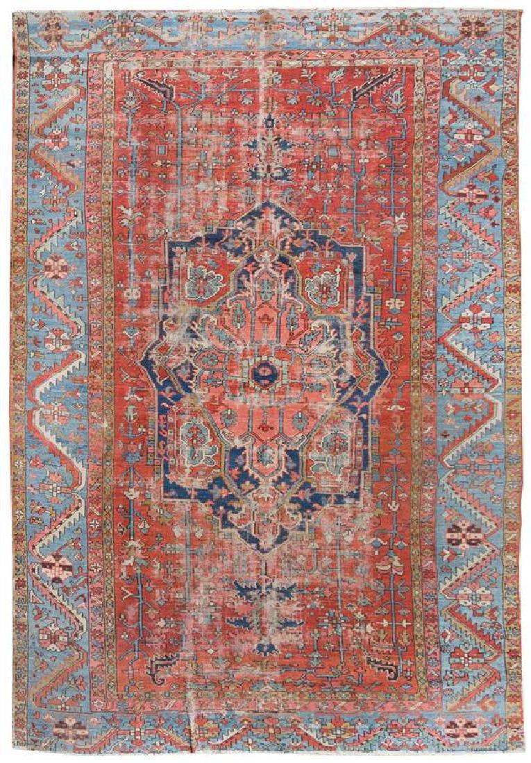 A Serapi Wool Rug 12 feet 7 inches x 8 feet 7 inches.